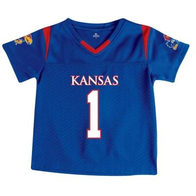 NCAA Kansas Jayhawks Toddler Boys' Short Sleeve Jersey