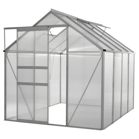 Walk - In 6' X 8' Lawn And Garden Greenhouse With Heavy Duty Aluminum Frame - Medium Clear - Ogrow - image 1 of 8