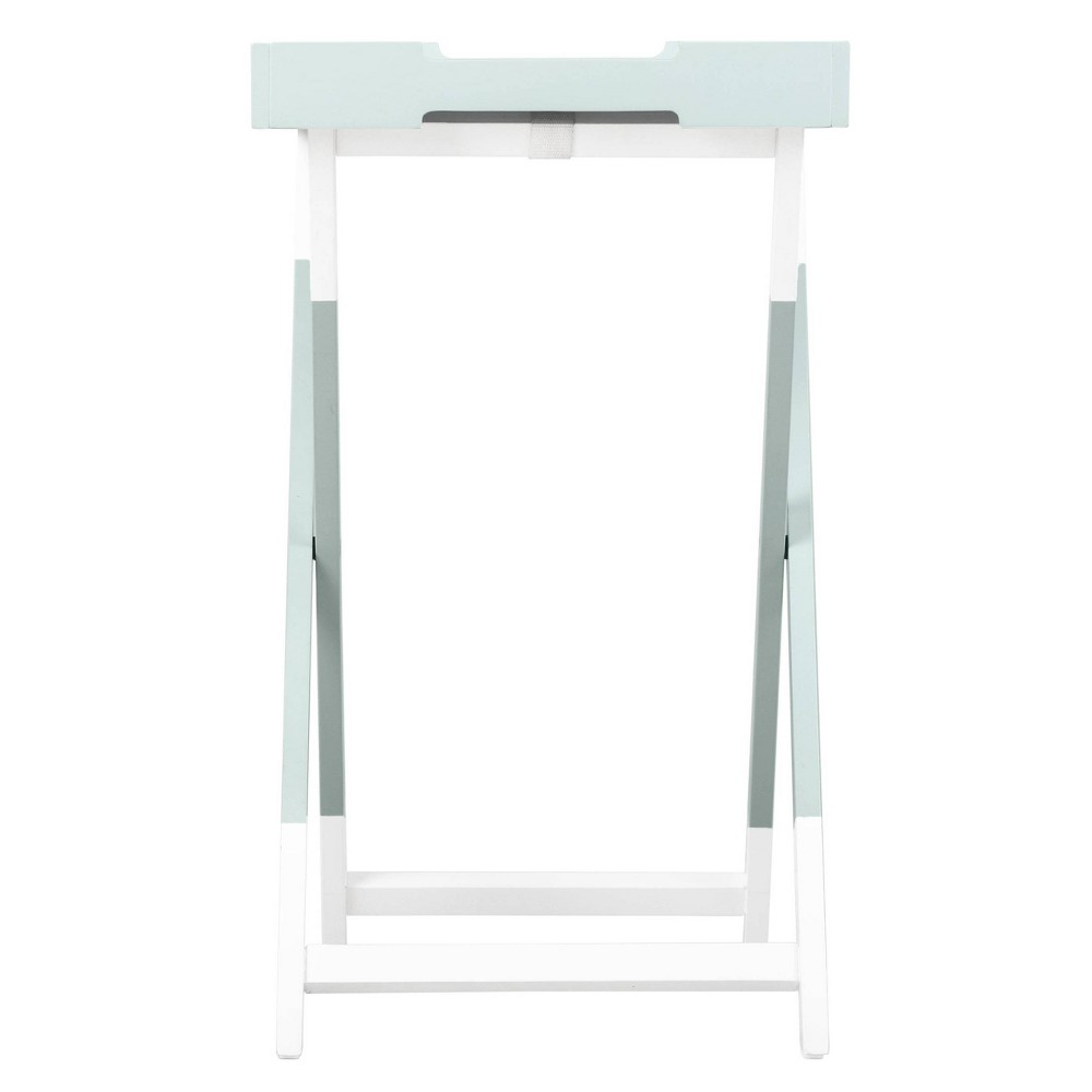 Image of Pantone Color Collection Folding Tray Side Table Misty Blue - Pantone