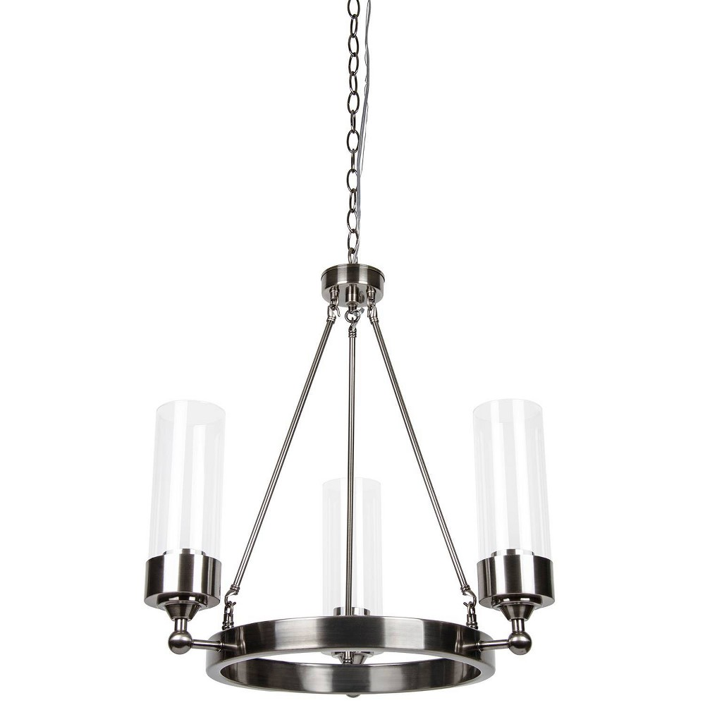 Image of Esquire Three Light Chandelier Gunmetal - Sunset Lighting