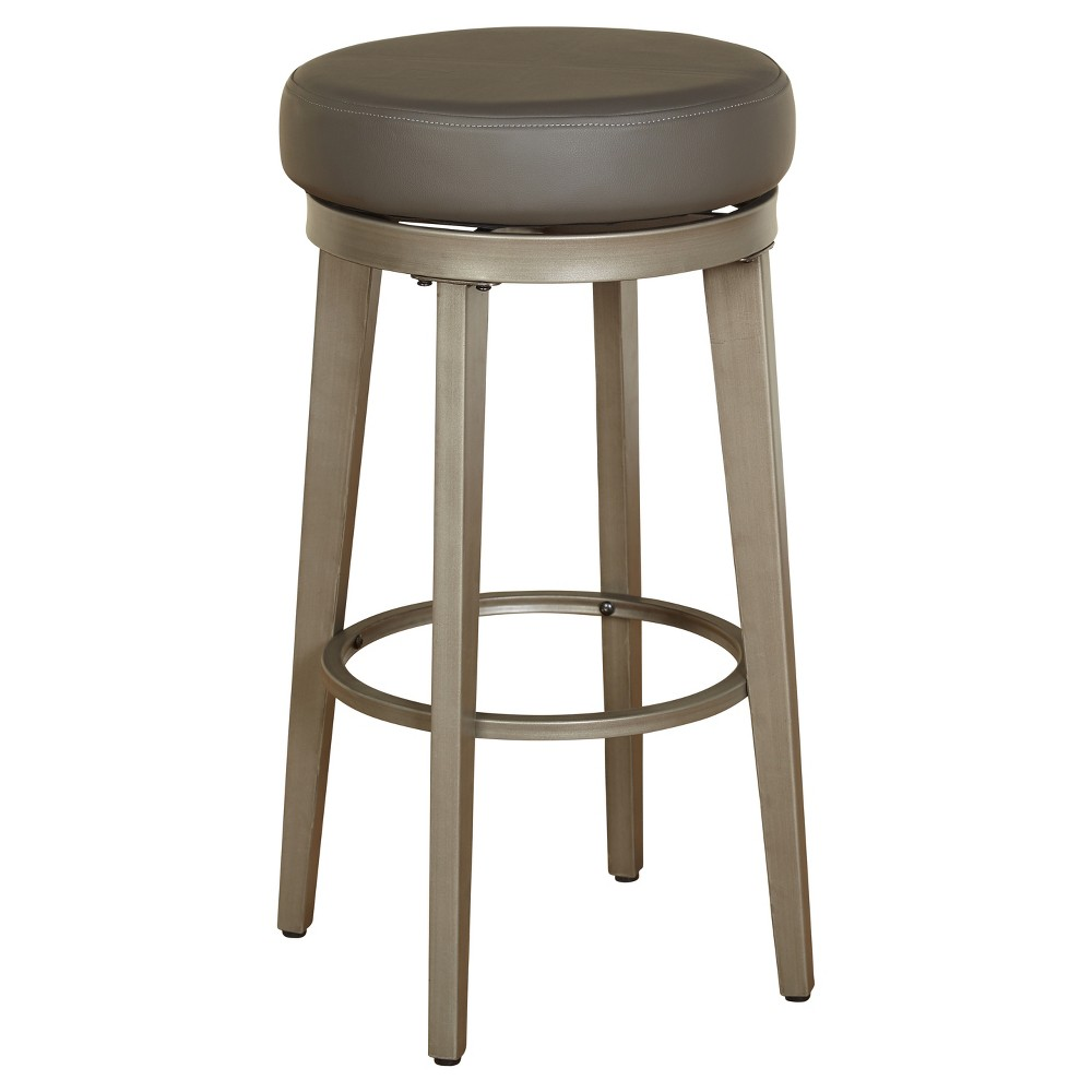 """Image of """"Set of 2 Linden 30"""""""" Swivel Stool Gray - Angelo:Home"""""""