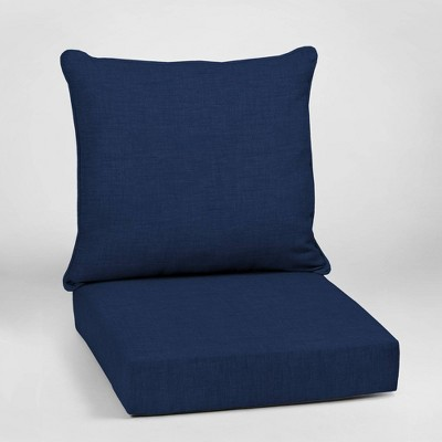 Leala Texture Deep Seat Outdoor Cushion Set Sapphire - Arden Selections