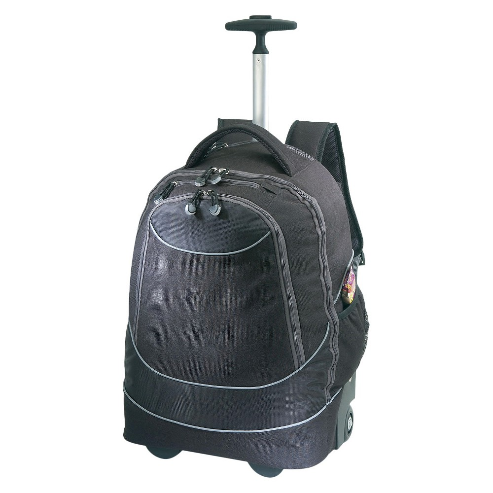 Pacific Gear Rolling Laptop 19 Backpack - Black