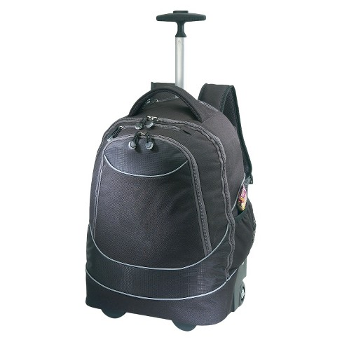 "Pacific Gear Rolling Laptop 19"" Backpack - Black - image 1 of 3"