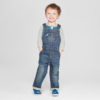 Genuine Kids® from OshKosh Toddler Boys' Denim Overalls - Dark Wash 12M