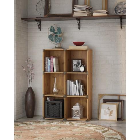 Bush Furniture Kathy Ireland Office Ironworks 6 Cube File Cabinet Bookcase In Vintage Golden Pine Target