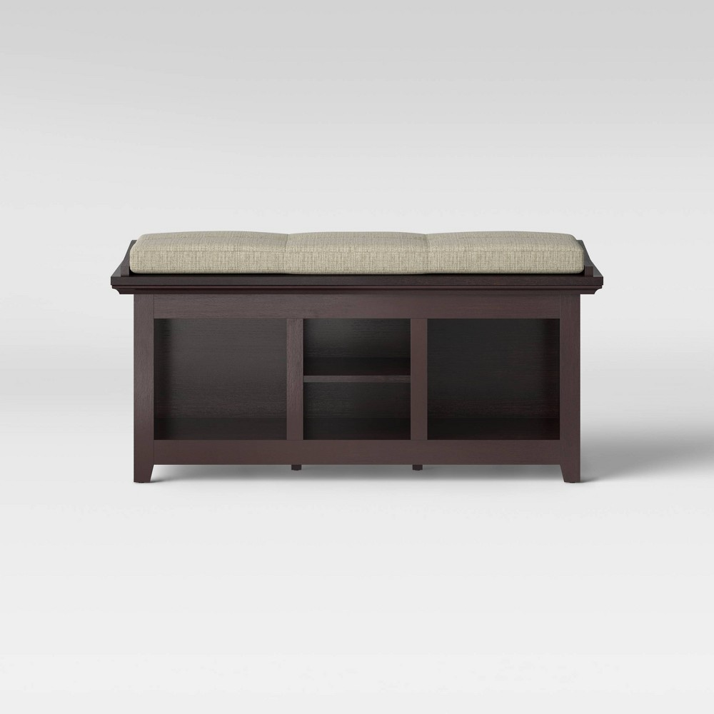 Cool Carson Entryway Bench Espresso Brown Threshold Gmtry Best Dining Table And Chair Ideas Images Gmtryco