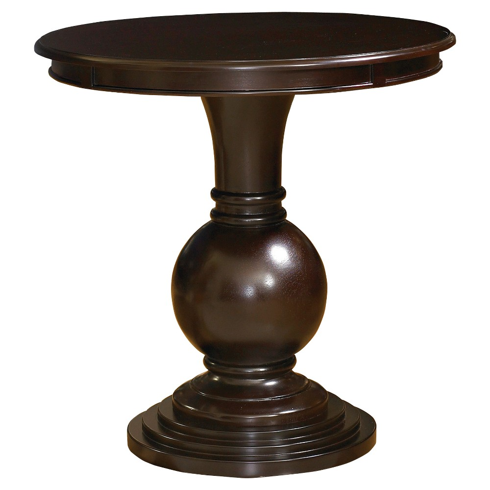 Dante Round Accent Table Espresso (Brown) - Powell Company