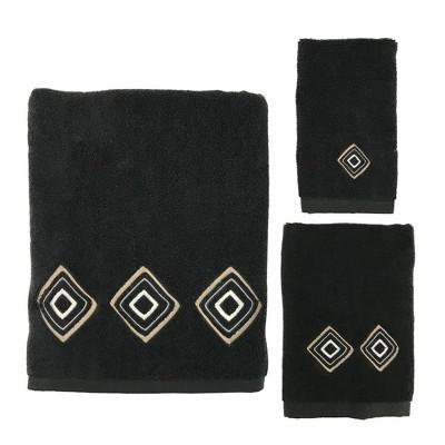 3pc Kente Towel Set Black - Allure Home Creation