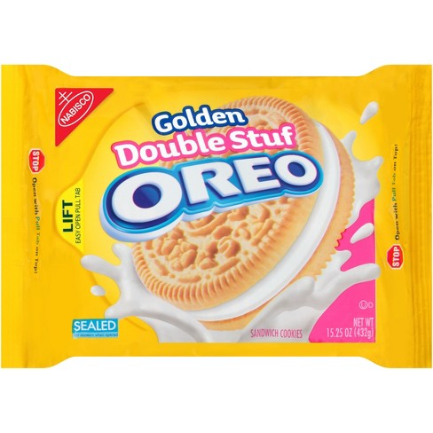 Golden Oreo Double Stuff Sandwich Cookies - 15.25oz - image 1 of 3