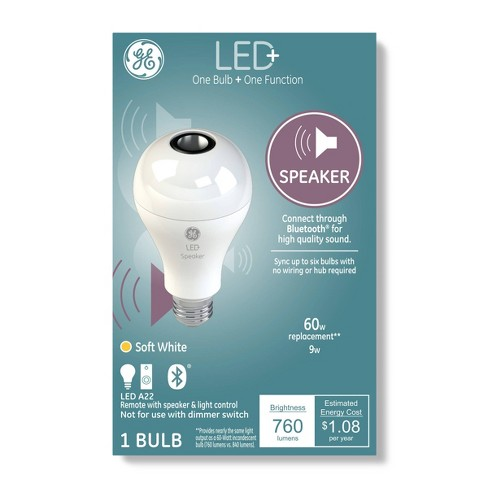 General Electric A21 Speaker Led Light Bulb White