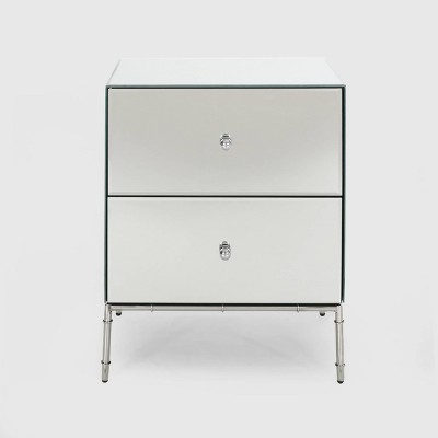 Crowley Modern Mirrored Cabinet Silver - Christopher Knight Home