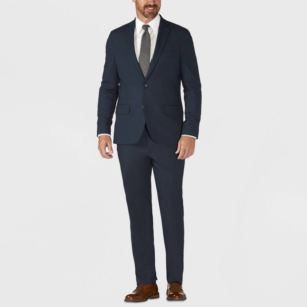 Haggar H26 Men's Tailored Fit Premium Stretch Suit Jacket - Blue 48L, Size: 48 Long