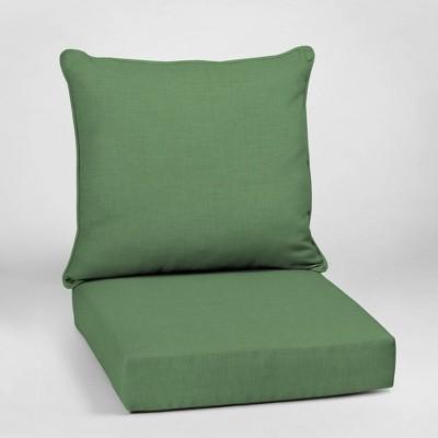 Leala Texture Deep Seat Outdoor Cushion Set Moss - Arden Selections