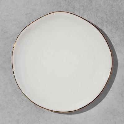 Stoneware Dessert Plate - Cream/Gold - Hearth & Hand™ with Magnolia