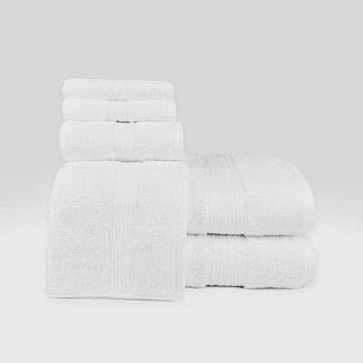6pc Hempstead Towel Set White - Loft By Loftex
