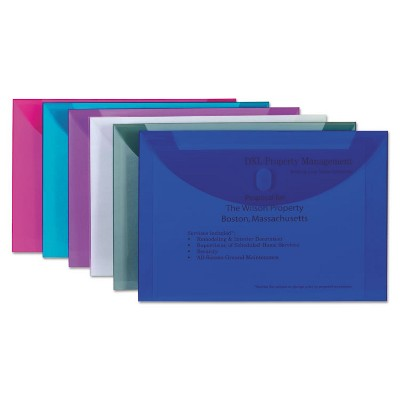 C-Line Reusable Poly Envelope Hook and Loop Closure 9 1/2 x 13 Assorted 58000
