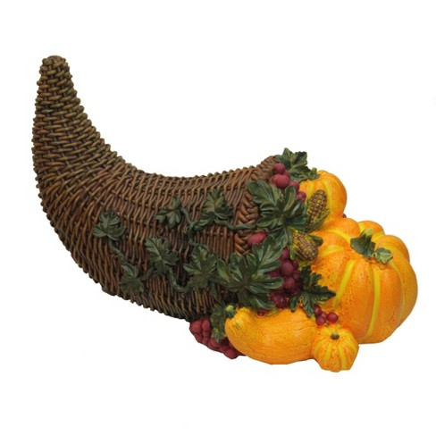 "Northlight 13"" Dark Brown and Vivid Orange Pumpkin and Basket Decorative Figurine - image 1 of 2"