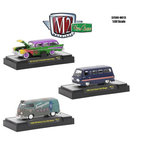 Wild Cards Set of 3 WITH CASES Release WC13 1/64 Diecast Model Cars by M2  Machines