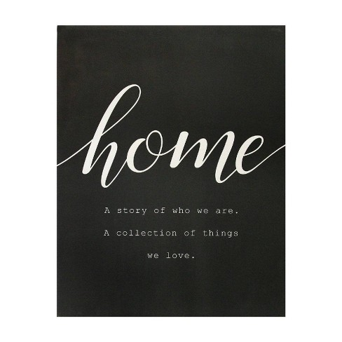 23 62 X 30 31 Home Is Quote Oversized Wall Art White Stratton Home Dcor Target