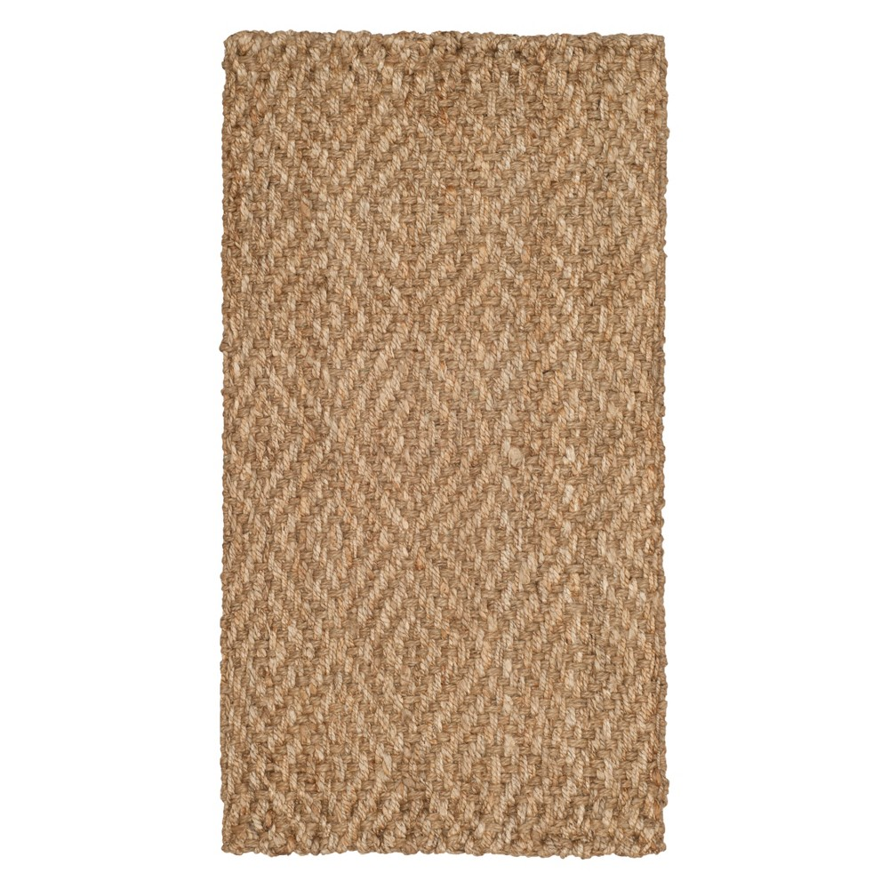 2'3X4' Geometric Woven Accent Rug Natural - Safavieh