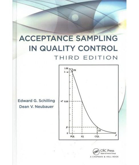 Acceptance Sampling in Quality Control -  by Edward G. Schilling & Dean V. Neubauer (Hardcover) - image 1 of 1