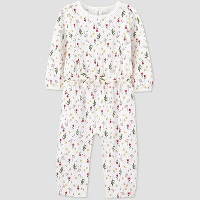 Baby Girls' Floral Romper - Just One You® made by carter's Cream 3M
