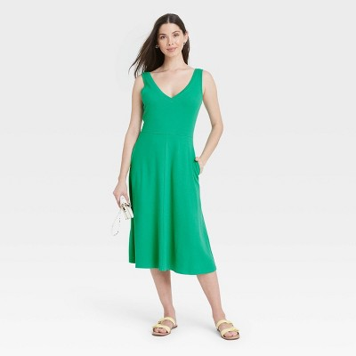 Women's Sleeveless Rib Knit Ballet Dress - A New Day™