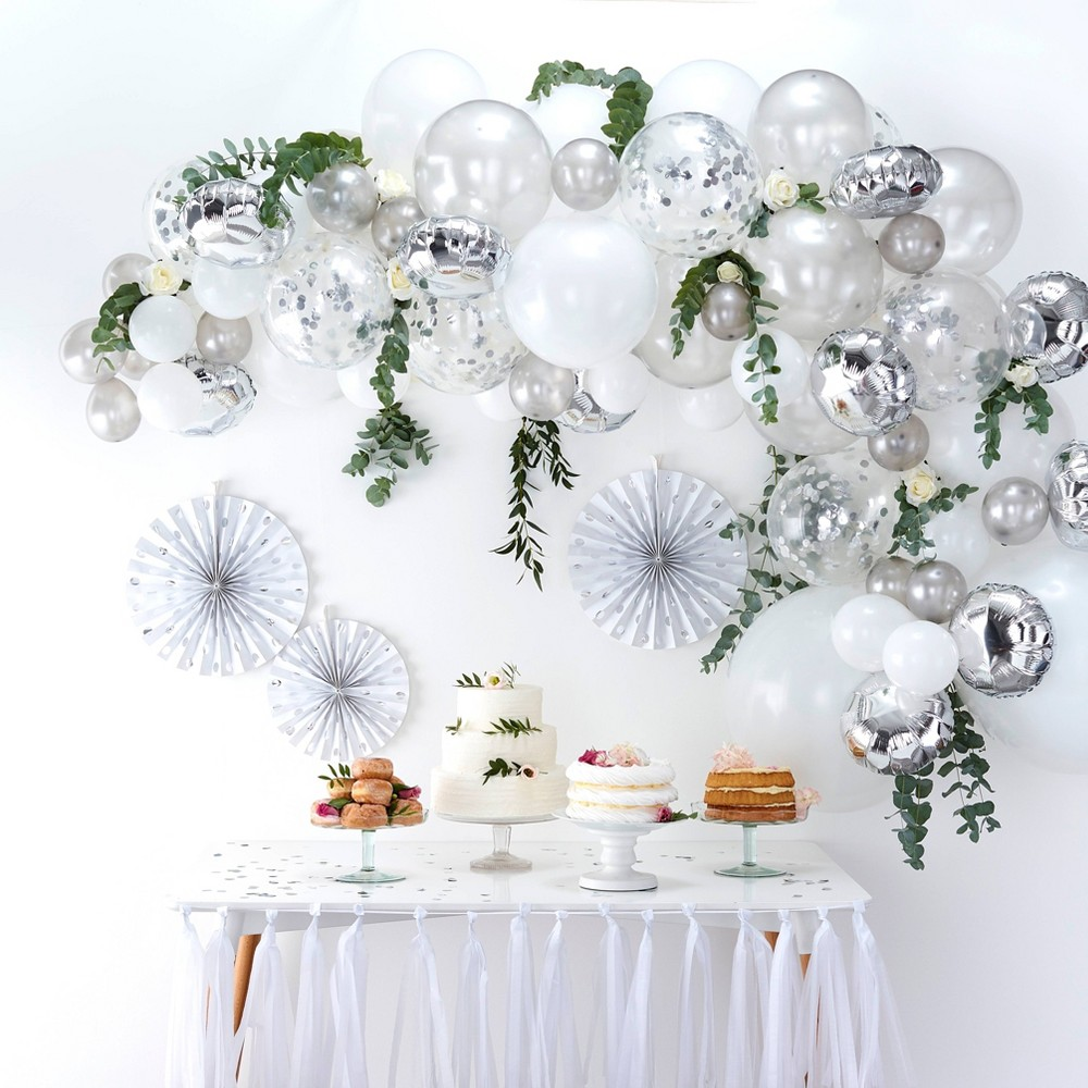 Image of Balloon Arch Sliver, balloons and balloon accessories