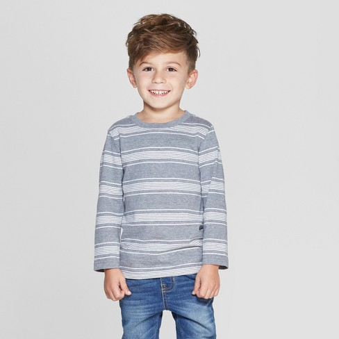 f5810884e0c8a Toddler Boys  Long Sleeve Stripe T-Shirt - Cat   Jack™ Heather Gray ...