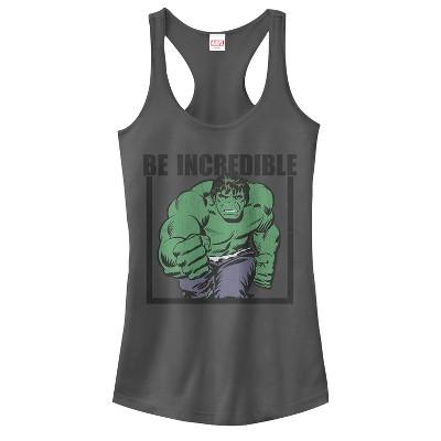 Junior's Marvel Hulk Be Incredible Racerback Tank Top