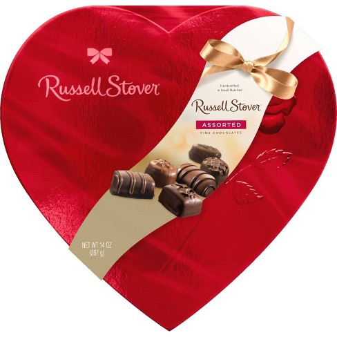 Russell Stover Valentine's Assorted Chocolates Red Foil Heart - 14oz - image 1 of 3