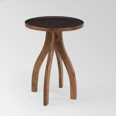 Prieur Boho Accent Table Brown - Christopher Knight Home