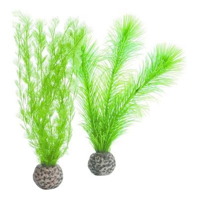biOrb Feather Fern Set Aquarium Artificial Plants - Green - S