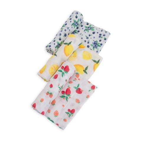 Little Unicorn Cotton Muslin Swaddle 3pk - Berry Lemonade - image 1 of 6