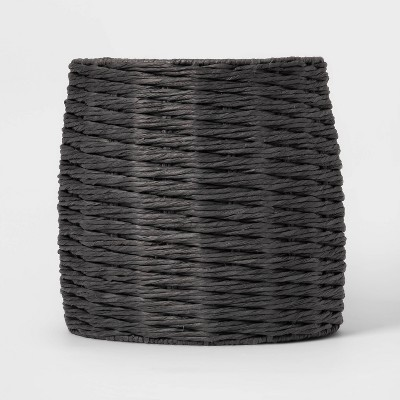 Tall Round Paper 5MM Rope Basket Charcoal - Project 62™