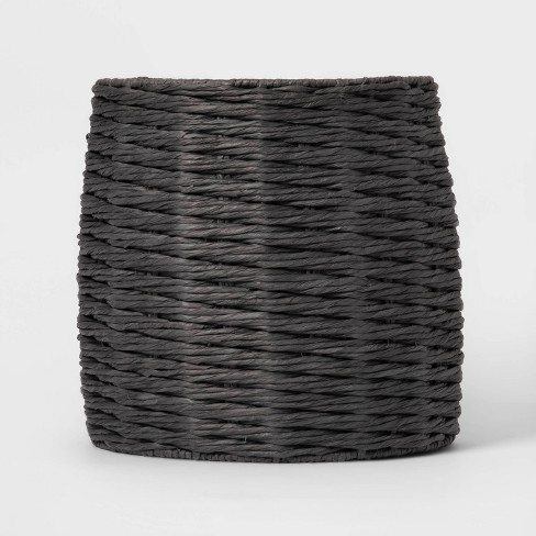 Tall Round Paper 5MM Rope Basket Charcoal - Project 62™ - image 1 of 3