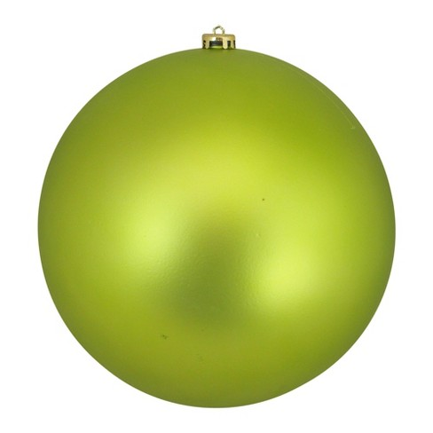Northlight 10 Shatterproof Matte Christmas Ball Ornament Green Target