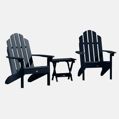 3pc Classic Westport Adirondack Chair Patio Set Federal Blue - highwood