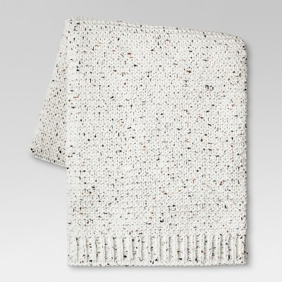 Chenille Throw Blanket (50 x60 )- Cream Marled - Threshold™