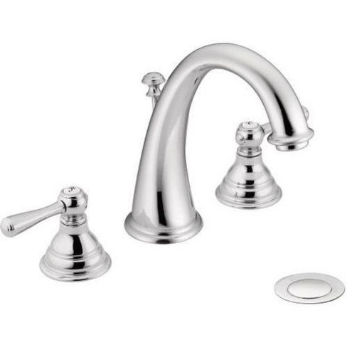 Moen T6125 Kingsley Double Handle Widespread Bathroom Faucet With Pop Up Drain Assembly Target