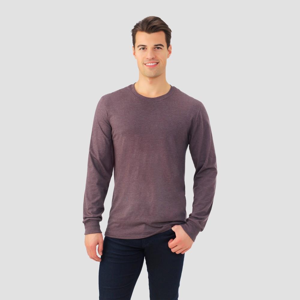 Fruit of The Loom Men's Long Sleeve T-Shirt - Brown L