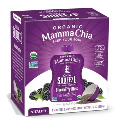 Mamma Chia Blackberry Bliss Chia Squeeze - 3.5oz 4ct - image 1 of 4