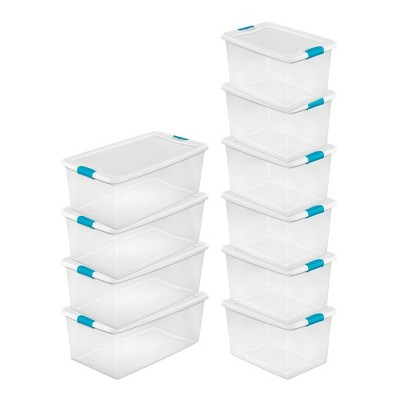 Sterilite 106 Qt. Plastic Storage Container (4 Pack) + 64 Qt Box (6 Pack)