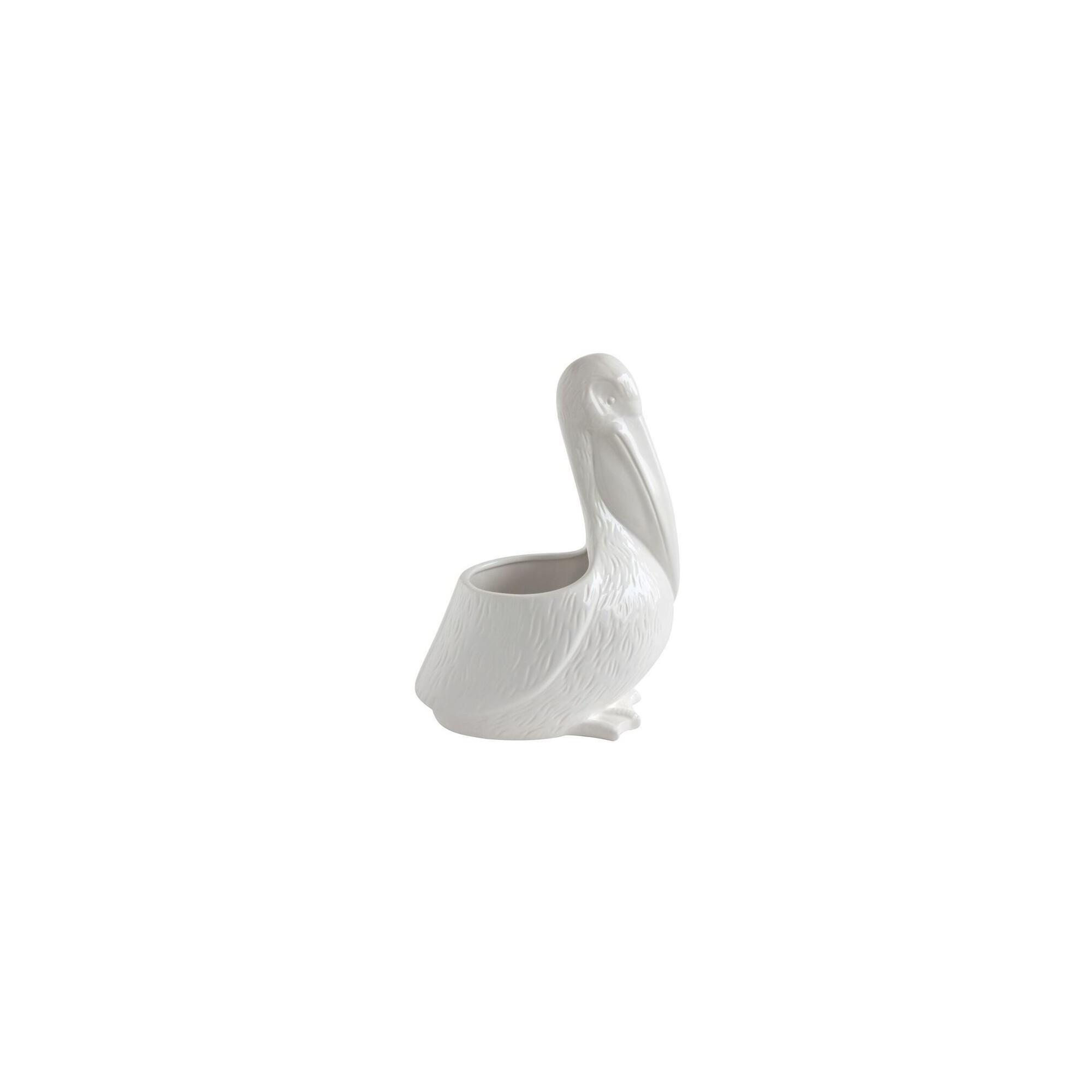 White Pelican Shaped Dolimite Planter - 3R Studios