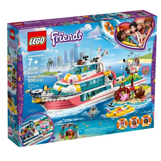 LEGO Friends Rescue Mission Boat 41381 Building Kit Sea Creatures for Creative Play 908pc image number null