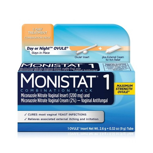 MONISTAT 1-Dose Yeast Infection Treatment, Ovule Insert & External Itch Cream - 1ct - image 1 of 3
