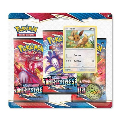 Pokemon Trading Card Game Sword Shield S5 Battle Styles 3pk - Eevee