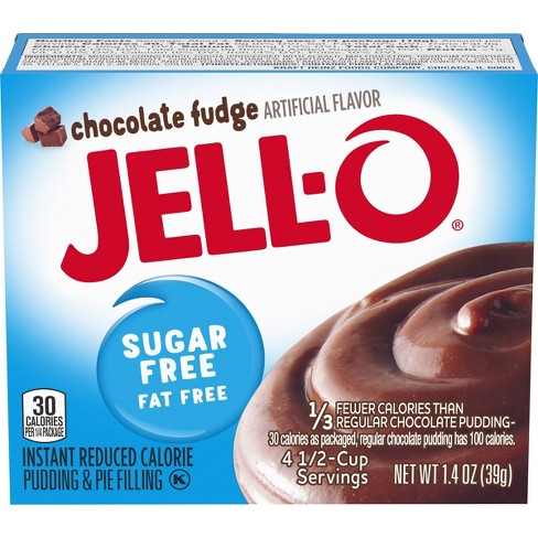 JELL-O Instant Sugar Free-Fat Free Chocolate Fudge Pudding & Pie Filling - 1.4oz - image 1 of 4
