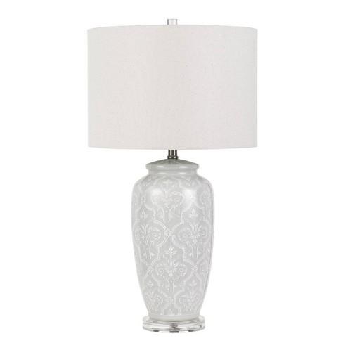 30 3 Way Corato Ceramic Table Lamp Pearl White Cal Lighting Target